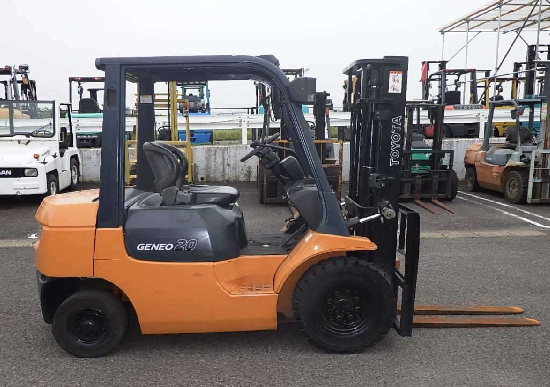 Used Toyota Forklift 2005 Nov Orange For Sale | Vehicle No ZA-61616